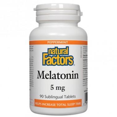 Мелатонин / Melatonin 5 mg Natural Factors - 90 Сублингвални таблетки