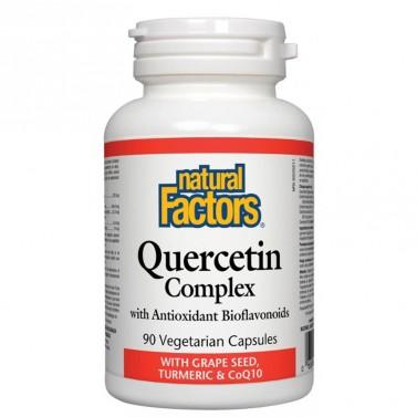 Кварцетин Комплекс с биофлавоноиди / Quercetin Complex 466 mg Natural Factors - 90 Капсули
