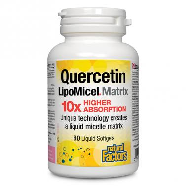 Кверцетин / Quercetin LipoMicel Matrix 10 X Higher Absorption 250 mg Natural Factors - 60 софтгел капсули