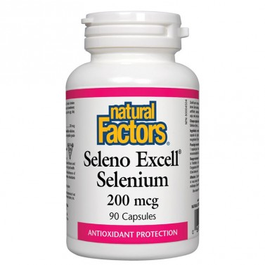 Селен / Selenium 200 mcg Natural Factors - 60 Таблетки