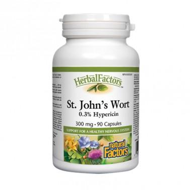 Жълт кантарион / St. John`s Wort 300 mg Natural Factors - 90 капсули
