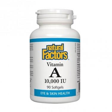 Витамин А / Vitamin A 10000 IU Natural Factors - 90 Софт капсули