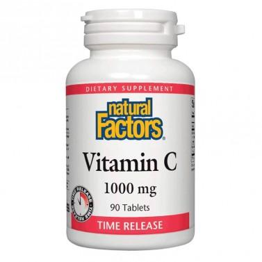 Витамин С / Vitamin C 1000 mg Natural Factors - 90 Таблетки с удължено освобождаване