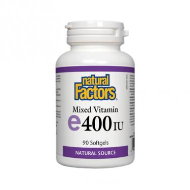 Витамин Е токоферил ацетат 400 IU Natural Factors - 90 Капсули