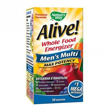 Alive! мултивитамини за мъже Nature's Way - 30 Таблетки
