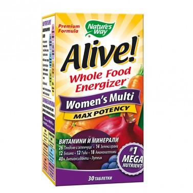 Alive! мултивитамини за жени Nature's Way - 30 Таблетки