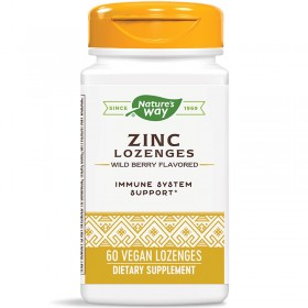 Zinc Lozenges / Цинк с Ехинацея и Витамин С Nature's Way - 60 Таблетки за смучене