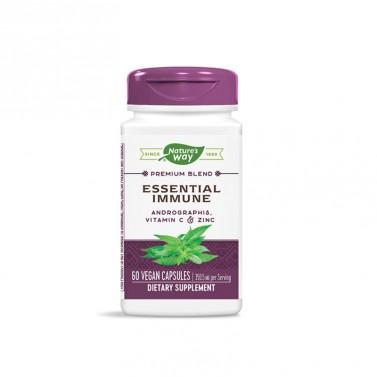 Essential Immune С андрографис, витамин С и цинк Nature's Way - 60 Капсули