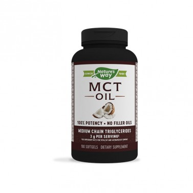 Средноверижни триглицериди от кокосово масло / MCT Oil Nature's Way - 180 Софтгел капсули