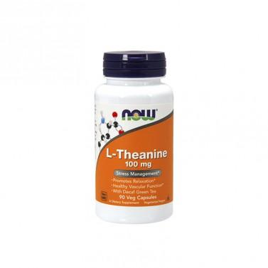 Л-теанин / L-theanine 100 mg NOW - 90 Вега капсули