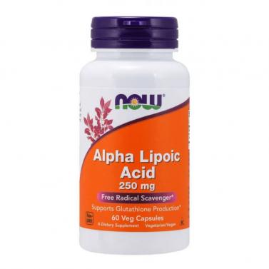 Алфа липоева киселина / Alpha Lipoic Acid 250 mg NOW - 60 Вегакапсули