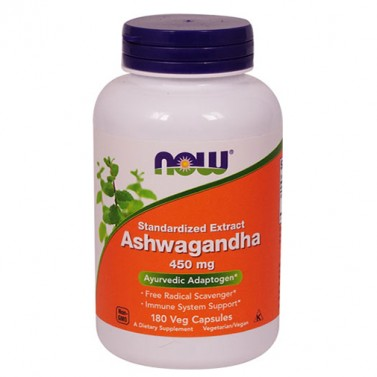 Ашваганда екстракт / Ashwagandha Extract 450 mg Now Foods - 90 Вега капсули