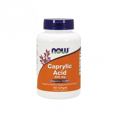 Каприлова киселина / Caprylic Acid 600 mg Now Foods - 100 Меки капсули