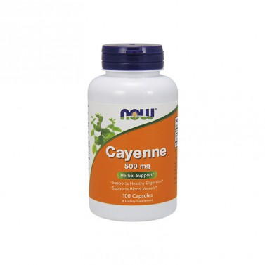 Кайен 500 mg NOW - 100 Капсули