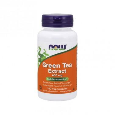 Екстракт от зелен чай 400mg NOW - 100 Капсули