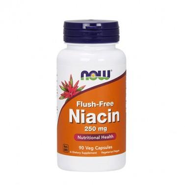 Flush-Free ниацин B3 250 mg NOW - 90 Вега капсули