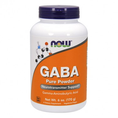Габа-аминобутирова киселина (GABA) NOW - 340 Дози