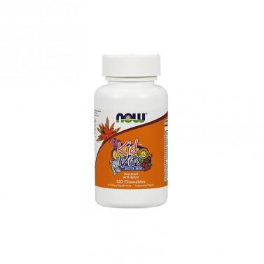 Детски витамини с вкус на боровинка NOW - 120 Дъвчащи таблетки