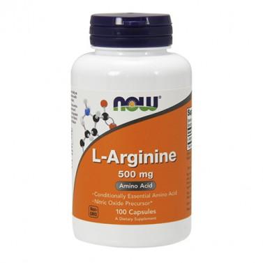 Л-аргинин / L-arginine 500 mg NOW - 100/250 Капсули