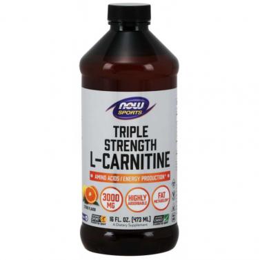 Течен L-карнитин / L-carnitine liquid 3000 mg NOW - 473 ml