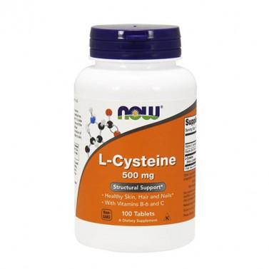 Л-цистеин / L-Cysteine  500 mg NOW - 100 Таблетки