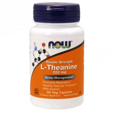 Л-теанин / L-theanine 200 mg NOW - 60 Вега капсули