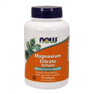 Магнезиев цитрат 134 mg Now Foods - 90 Меки капсули