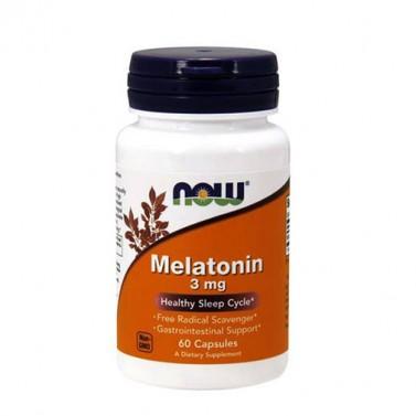 Мелатонин / Melatonin 3 mg NOW - 60/180 Капсули