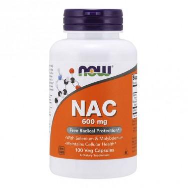 N ацетил цистеин / N-ACETYL CYSTEINE (NAC) Now Foods 600 mg - 100 Капсули