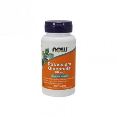 Калиев глюконат 99mg Now Foods - 100 Таблетки