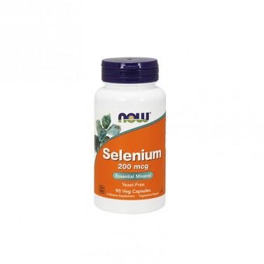 Селен / Selenium - без дрожди 200mcg NOW - 90 / 180 Вега капсули