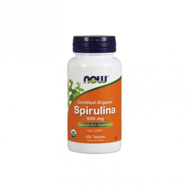 Спирулина БИО 500 mg NOW - 100 Таблетки