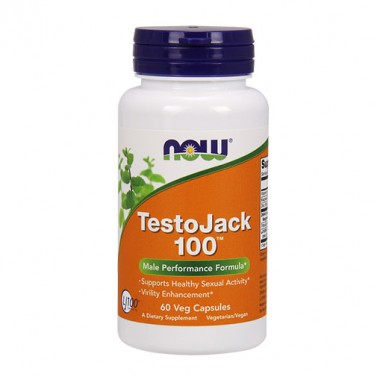 TestoJack 100 ™ Now Foods - 60 Вега капсули