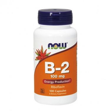 Витамин B2 Рибофлавин 100 mg NOW - 100 Капсули