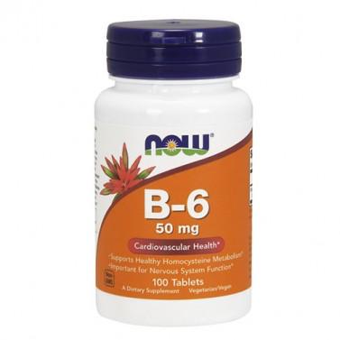 Витамин B6 / Vitamin B6 50mg NOW  - 100 Таблетки