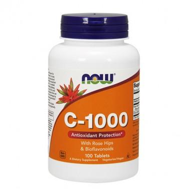 Витамин C 1000 със 100 mg биофлавоноиди NOW - 100 Вега капсули