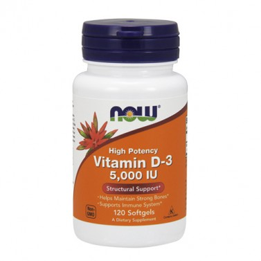 Витамин D-3 / Vitamin D3 5000 IU NOW - 120 Mеки капсули