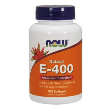 Витамин E 400 IU / смесени токофероли NOW - 100 Меки капсули