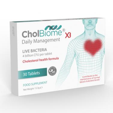 ХолБиом® Х3 / CholBiome®X3 – естествено решение за добро сърдечно здраве OptiBiotix Health Plc - 30 Таблетки