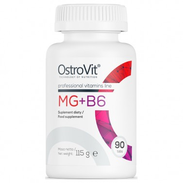 Mg + B6 / Магнезий + Витамин B6 OstroVit - 90 таблетки