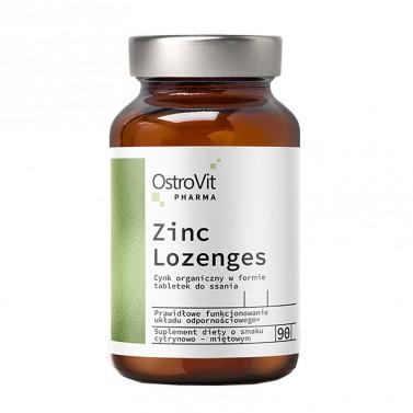 Цинк Gluconate Lozenges + Витамин C OstroVit - 90 таблетки