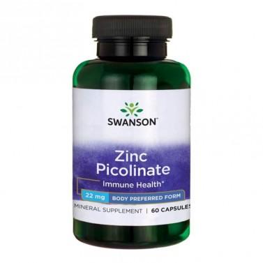 Цинков пиколинат / Zinc Picolinate Body Preferred Form 22mg SWANSON - 60 Капсули