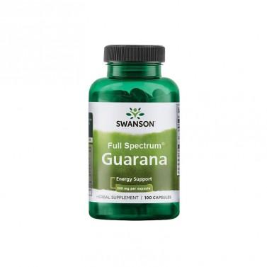 Гуарана / Guarana 500mg SWANSON - 100 Капсули