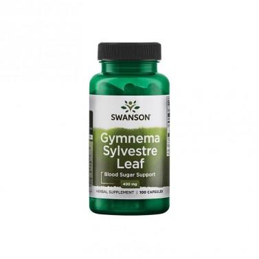 Гимнема Силвестре / Gymnema Sylvestre Leaf 400mg SWANSON - 100 Капсули