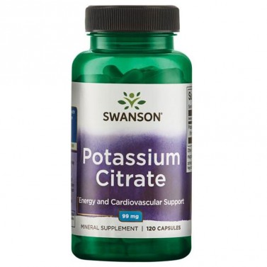 Калиев Цитрат - калий / Potassium Citrate 99mg SWANSON - 120 Капсули