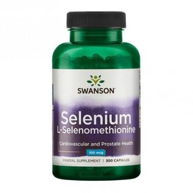 Селен / Selenium L-Selenomethionine 100mcg SWANSON - 300 Капсули